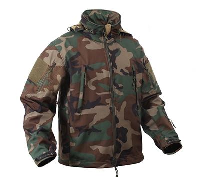 Rothco 9906 Woodland Camo Special Ops Soft Shell Jacket